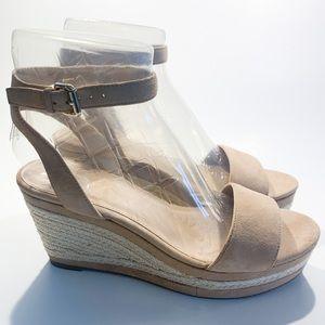 Like new Aldo nude wedge heels